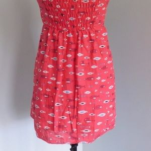 Anthropologie Dresses - LILKA ~ Small Red FISH Print Dress OR Tunic Top